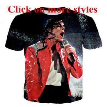 King Of Pop Michael Jackson Shirts New Fashion Men Women 3d Character T  Shirts T Shirt 3D Print Tshirt Tops 101 Create Your Own T Shirt Design  White T Shirt ... a5706cc31240