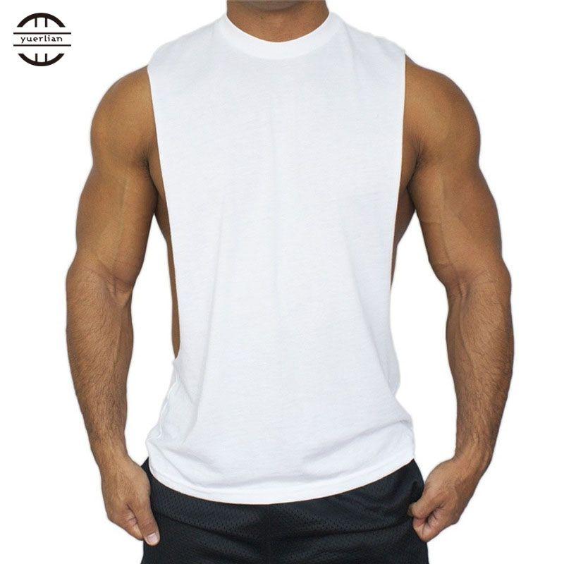 6ac5575e27a6 Großhandel Yuerlian Baumwolle Solide Coletes Fitness Training Shirts Gym  Bodybuilding T Shirt Basketball Tank Top Yoga Sport Männer Laufweste Von  Stem