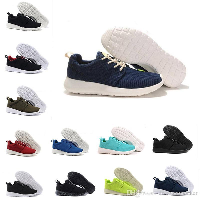 cheap best clearance ebay 2018 Fashion Shoes Run Running Sneaker Black White Blue Mens Women Best Sport Shoe Online London Olympic Runs Shoes Trainers Sneakers 36-45 XUeVfR