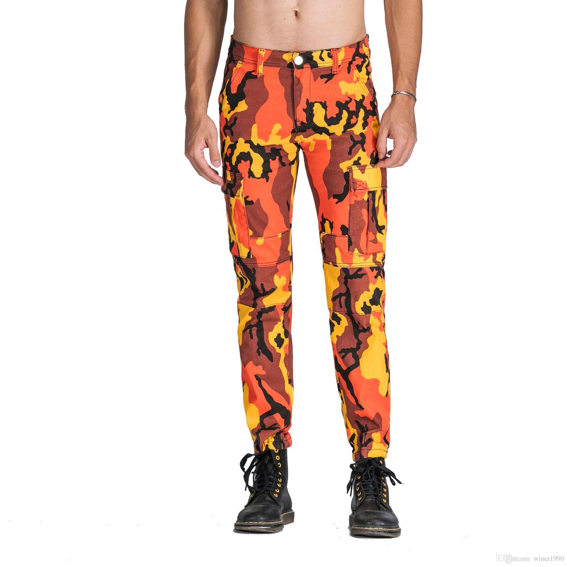 Мужская мода камуфляж брюки повседневные брюки 4 Цвет