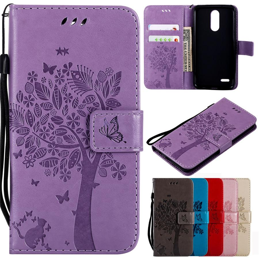 quite nice 53ded 0ae7c Leather Case on for Fundas LG K8 2018 Case For LG K9 Cover 3D Tree Cat Case  for LG K9 / K8 2018 Wallet Flip Magnetic Phone Cases