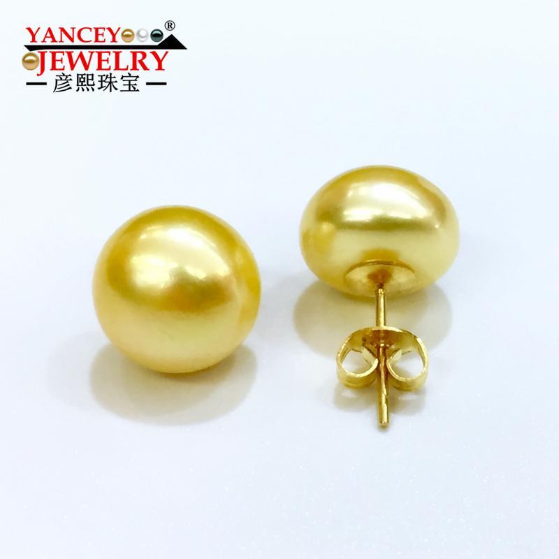 4ce5858817c2 Acheter Yancey Promotion De La Marque Véritable Boucles D oreilles Perle  D eau Douce Pour Les Femmes