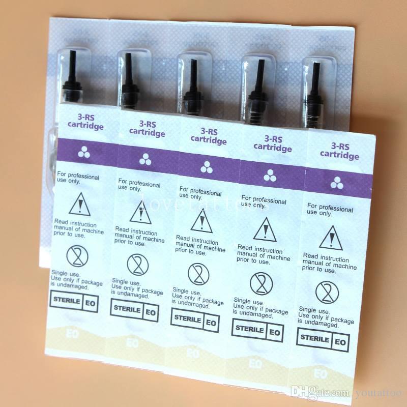 Картридж 50 шт 3rs одноразовые стерилизованные татуировки перманентный макияж Pen Machine иглы советы для бровей губ Microblading поставки