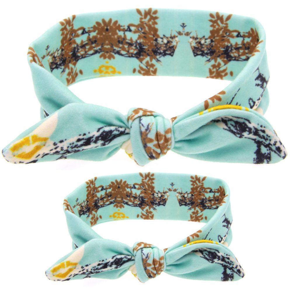 Mujeres Bandas de pelo mamá y flor diadema de pelo elástico arco diademas niños niños Headwear accesorios para el cabello W222