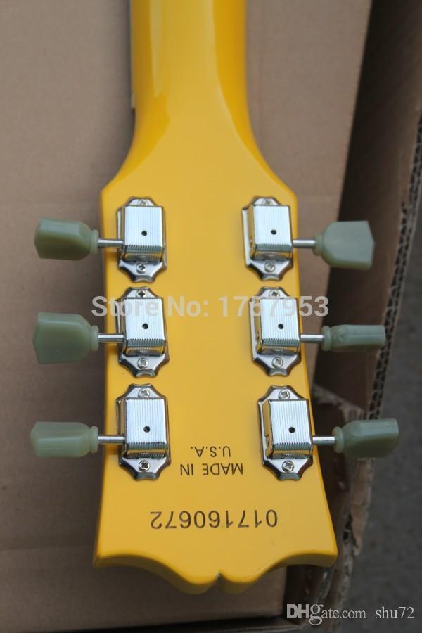 Fábrica custom shop 2015 Mais novo amarelo 1 pickups padrão S G Guitarra Elétrica Frete grátis HAI 4