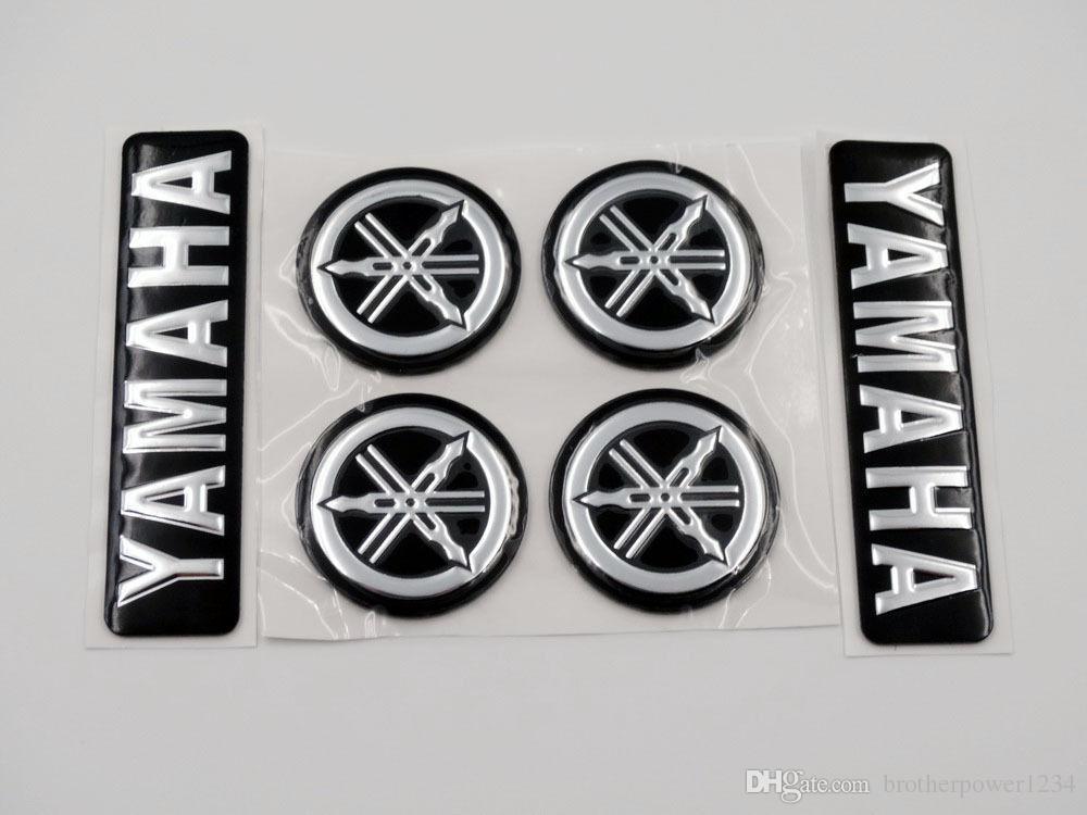 Schwarz Silber 3d Emblem Aufkleber 7cm Plus Stimmgabel 3cm Für Alle Yamaha Modelle Motorräder Custom