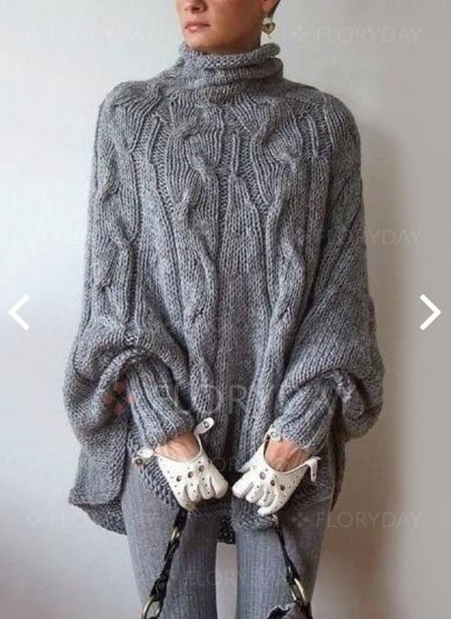 2019 Turtleneck Cable Knit Long Batwing Sleeves Irregular Oversized Cloak Pullover  Sweater From Just4fashion 0058291dd