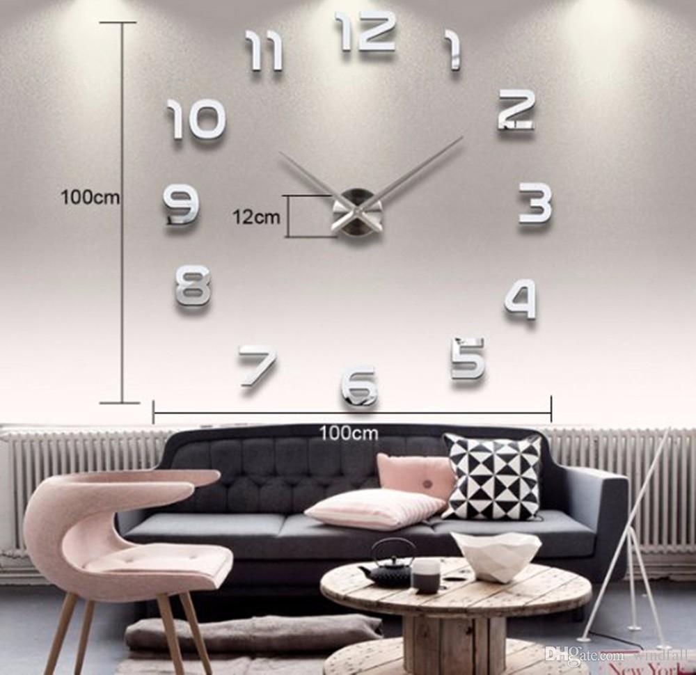 Schön Wanduhren Modern Design Beste Wahl Big Number Mirror Wall Clock Large Designer