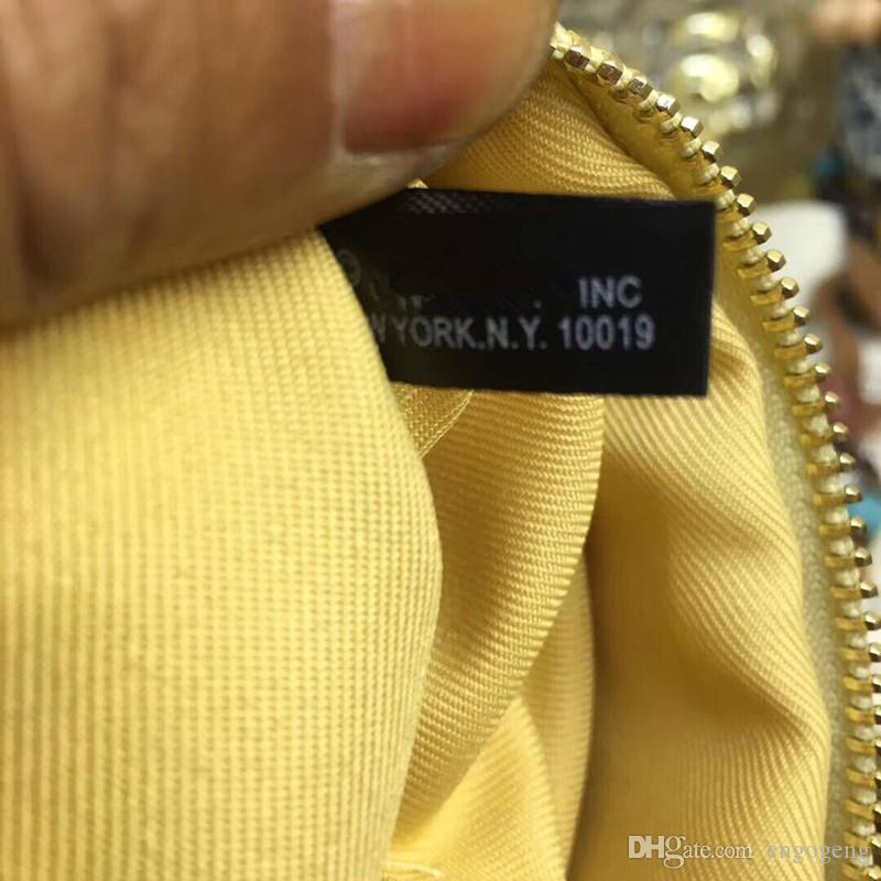 NEU! Mode make-up tasche berühmte logo gesteppte gold schwarz farbe mit box kosmetische fall luxus party make-up veranstalter tasche handtasche Anita