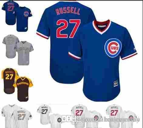 a6eb8486ea9 ... sale 2018 2019 custom mens women youth majestic cubs jersey 27 addison  russell home blue grey new style authentic chicago ...