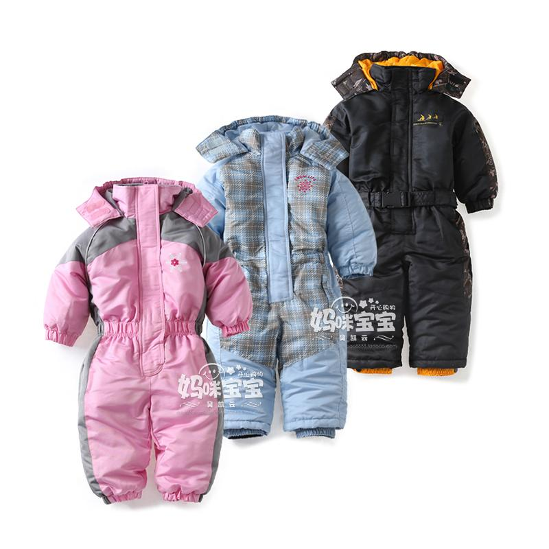 8871a2432284 Snowsuit Toddler Boy Girl Rompers Ski Jumpsuit Outdoor Winter Warm ...