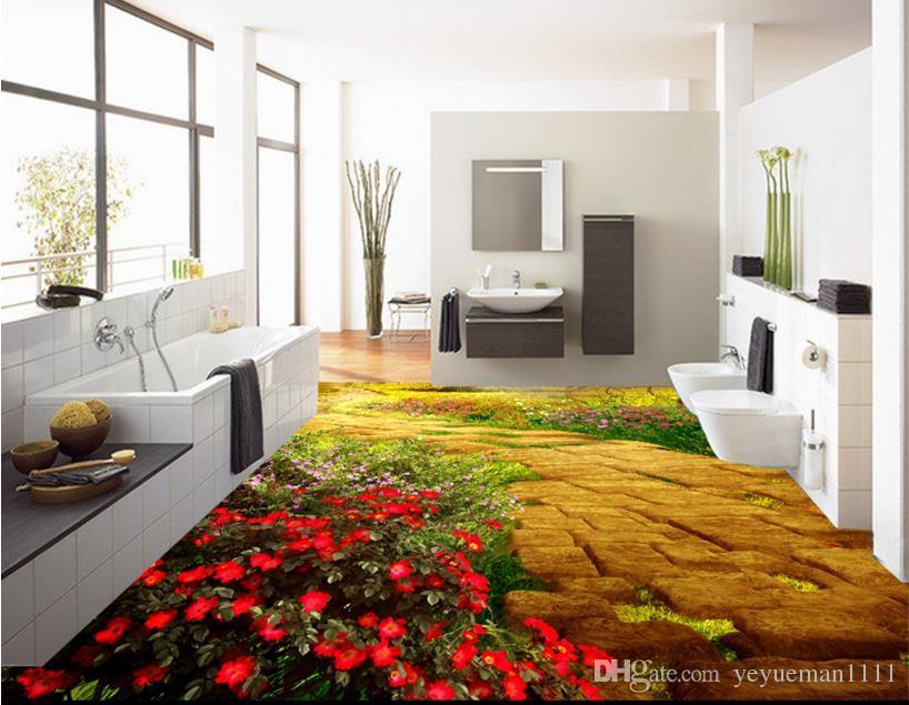 3d Fußboden Küche ~ Großhandel 3d bodenbelag tapeten für wohnzimmer benutzerdefinierte