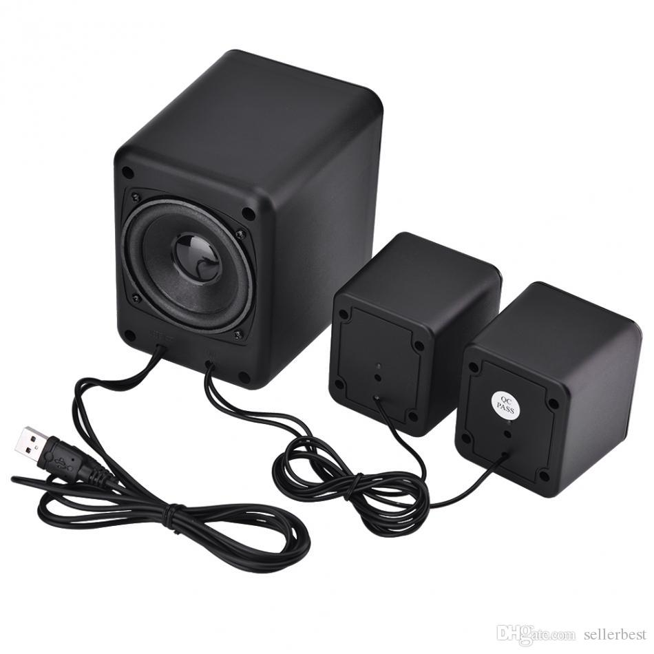 SADA D-203 Mini Professional Speaker USB 2.1 Wired Combination Speaker Bass Music Player Subwoofer for Cellphone Laptop PC