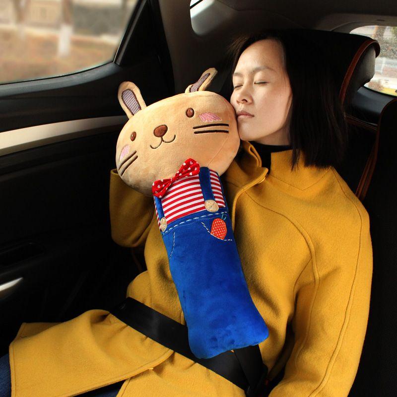 Large Shoulder Harness Car Seat Belt Korean Cartoon Large Rabbit ...