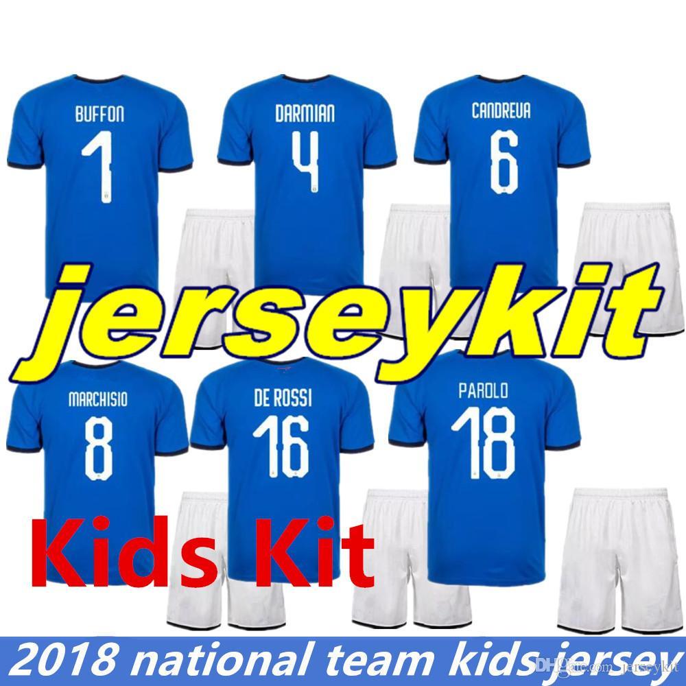 5f3df1ae9e0 ... where to buy world cup 2018 italy jerseys kids soccer jerseys buffon  belotti totti bonucci pirlo