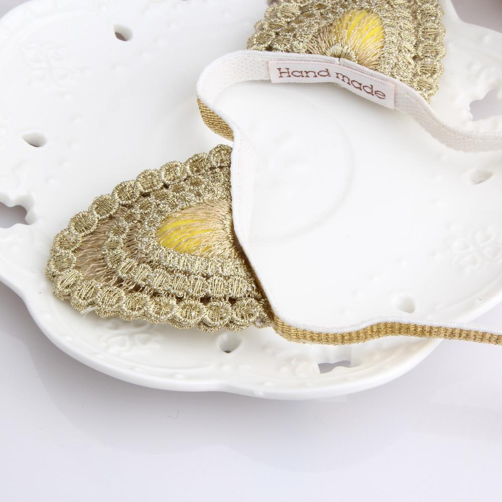 M MISM New Fashion Korean Cute Gold Delicate Lace Cat Ear Girl Headbands Head Wrape Infant Hair Accessories Children Hair Bands