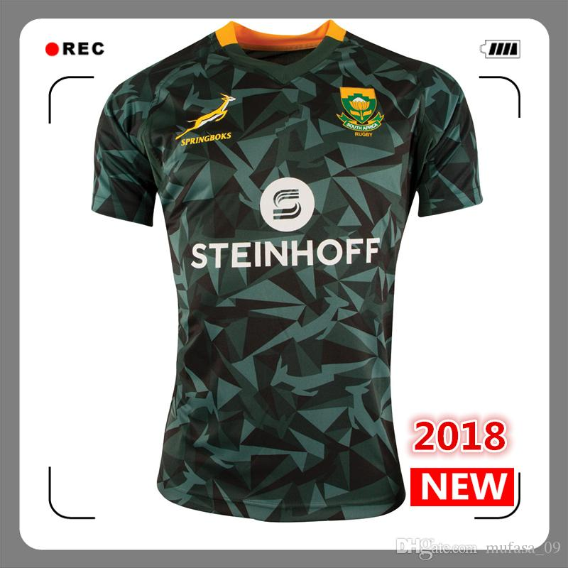 d79dd14822b 2019 2018 Mens South Africa Fan 7s Home Rugby Shirt Springboks South African  National Team Rugby Jerseys Shirts S 3xl From Mufasa_09, $17.26   DHgate.Com