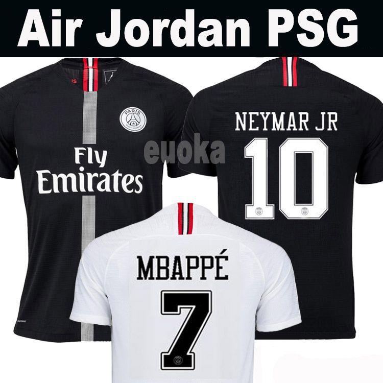 Top Tailândia Qualidade AIR PSG JORDAN 3RD Third Camiseta De Fútbol 2019  Camisa Paris Saint Germain NEYMAR JR MBAPPE Soccer Jerseys Camisa Cavani ... 08477e8c2e8a2