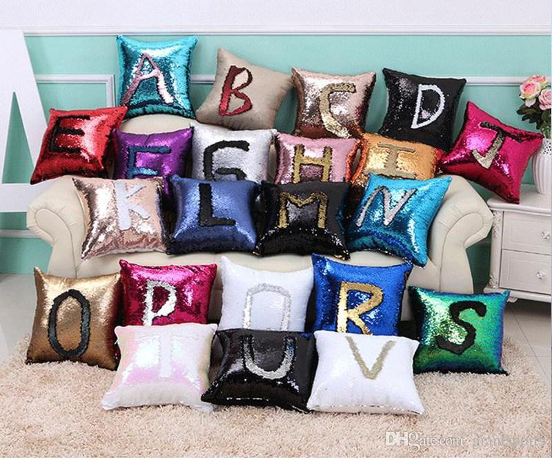 Mermaid Personalized Pillow Case Magic Reversible Decorative Sequin Pillow  Cover Throw Cushion Covers Pillowcases And Shams For Home Decor Cheap  Pillowcases ... 6093f15de