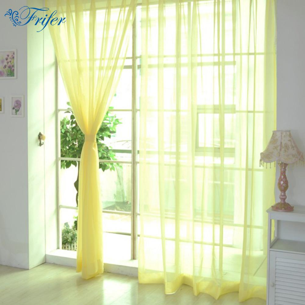 Sheer Curtains 100200cm Cheap Modern Window Curtain Home White Tulle For Living Room Bedroom Bathroom Polyester Screen Scarf