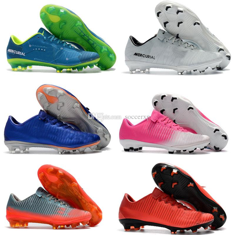 7de9484f3b4 2018 Mens Low Ankle Football Boots Mercurial Vapor XI FG High Quality Soccer  Shoes Superfly V Soccer Cleats Boots Superfly V FG Cheep Soccer Boot Youth  ...