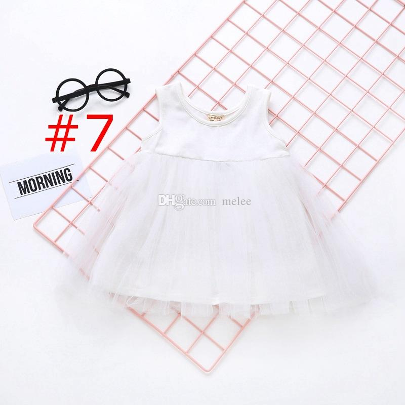 INS Long Short Sleeve Girls Cotton Tutu party Dresses Autumn Girl kids Clothing Baby Girl Solid Color Tutu Dress 1-5Years free ship