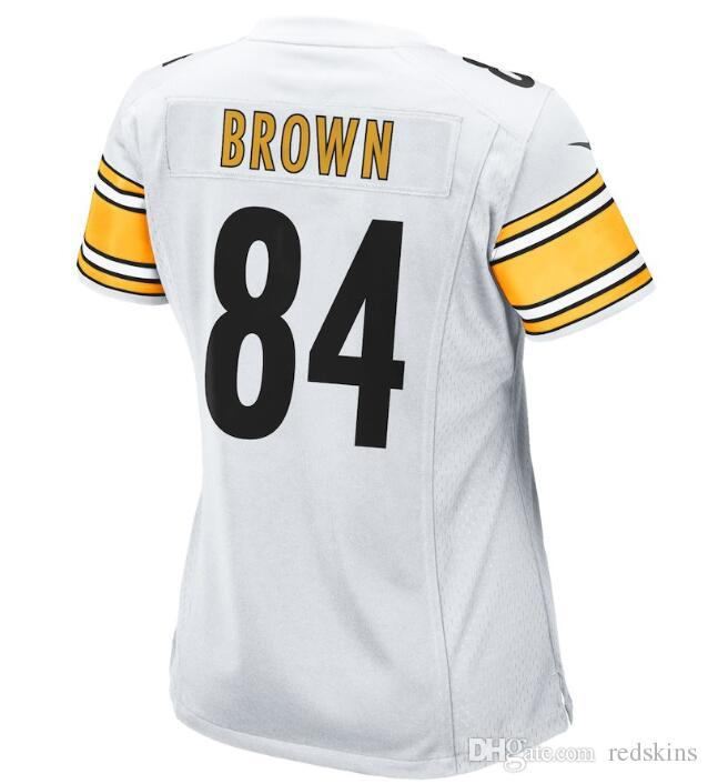 d2f9522d9b7 84 Antonio Brown Jersey Alejandro Villanueva Pittsburgh Steelers ...