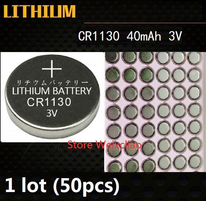 50 adet 1 grup CR1130 3 V lityum li ion düğme hücre pil CR 1130 3 Volt li-ion para piller tepsi paketi Ücretsiz Kargo