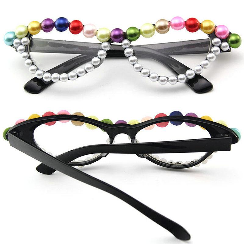 4c58821519 2019 Party Cat Pearls Round Glasses Frames Women Sexy Styles MINCL Brand  Designer Optical Fashion Computer Glasses NX From Goodlines