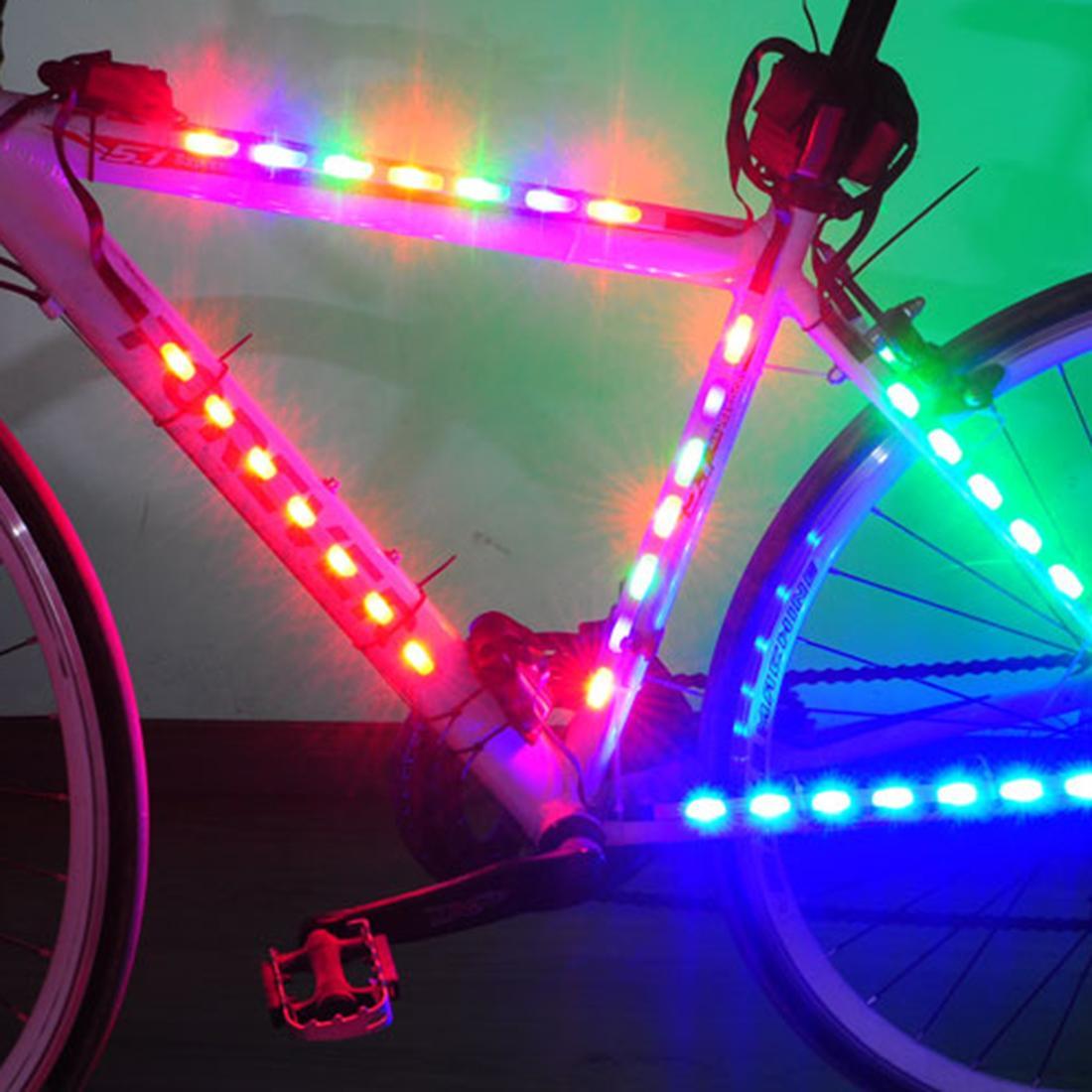 2018 Battery Bicycle Light Led Bike Lamp Safety Spoke Light Strip ...