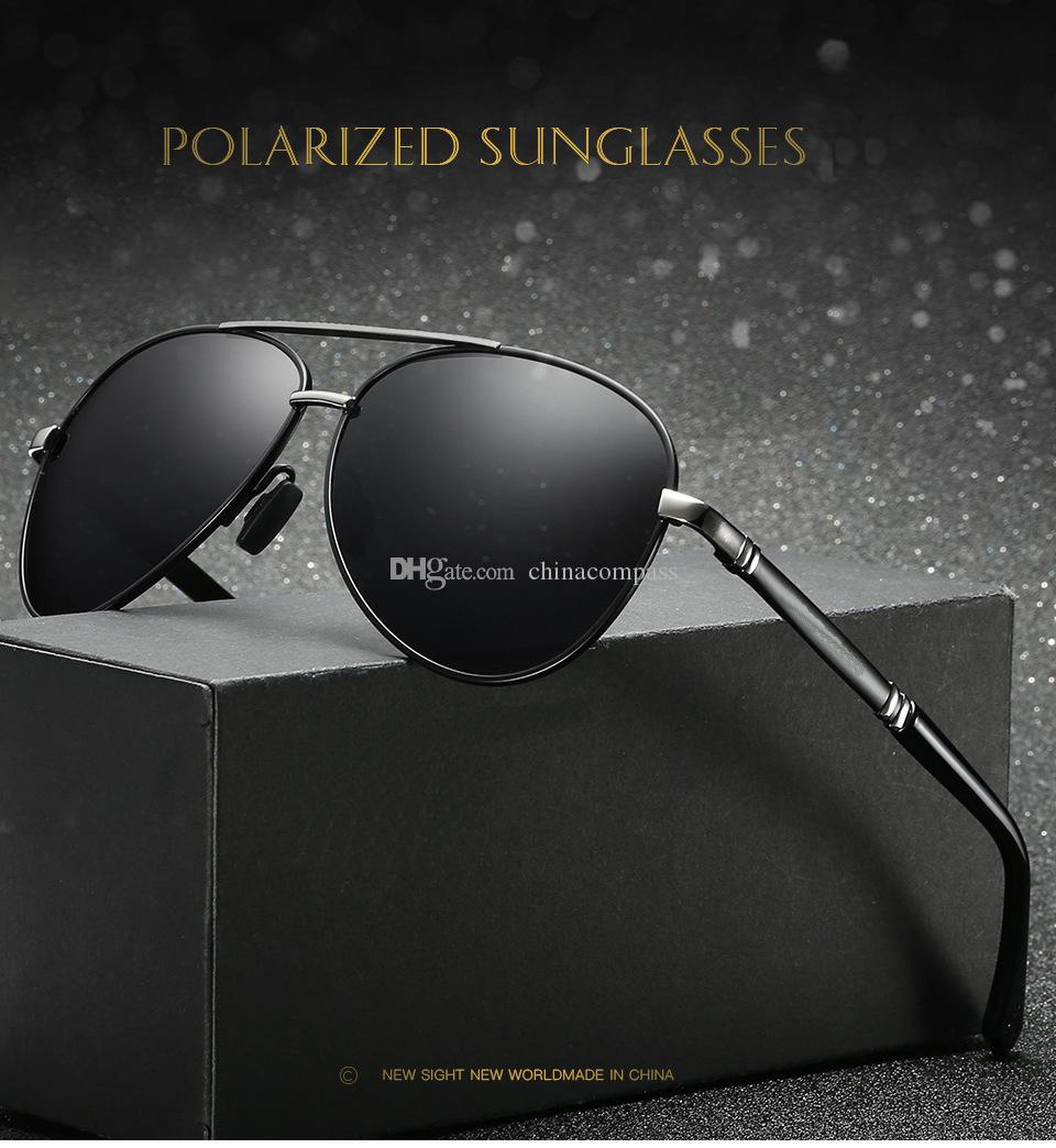 Fashion Pilot Polarized Sunglasses Beach flash Eyewear Metal sun glasses Driving fishing for men A510