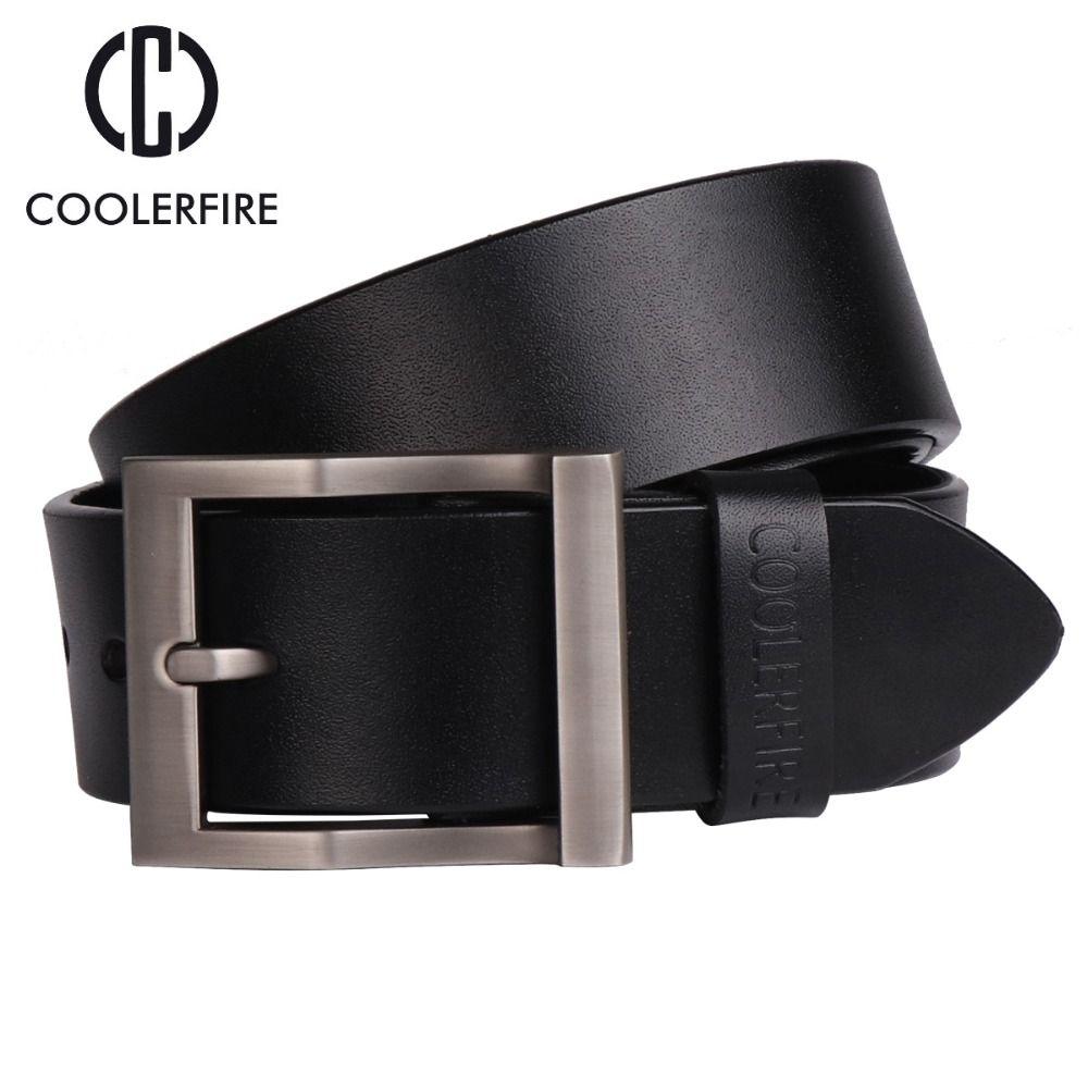 Compre Coolerfire Hombres Cinturones De Cuero Genuino Cinturones De Diseño  Hombres Correa De Lujo Cinturones Masculinos Para Hombres Hebilla Pin De  Moda ... cd1f7dc67c29