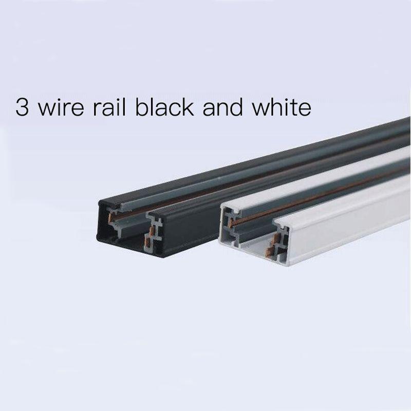 3 wire 1 phase spot lighting rail recessed ceiling track black white rh dhgate com