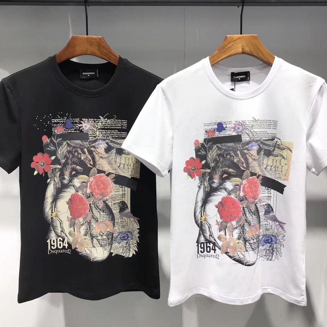 e3fc7afc27 2019 New Arrival T shirt men brand-clothing fashion men t-shirt elastic  summer style breathable men tshirt white black