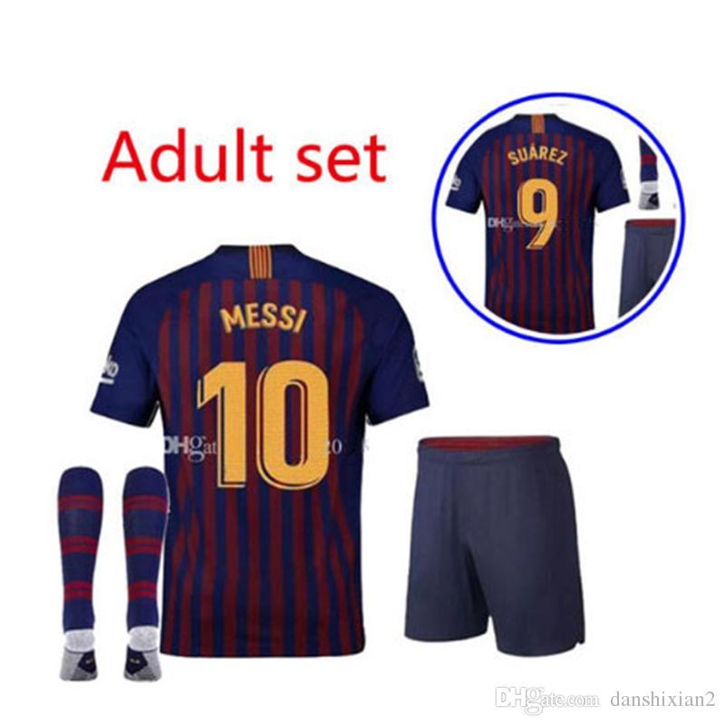 Barcelona 2018 MESSI SUAREZ Adult Jersey Football 2019 Camisas Blue Dembele  Messi INIESTA Home Jersey 18 19 Adult Suit UK 2019 From Danshixian2 e12df7a0dc5