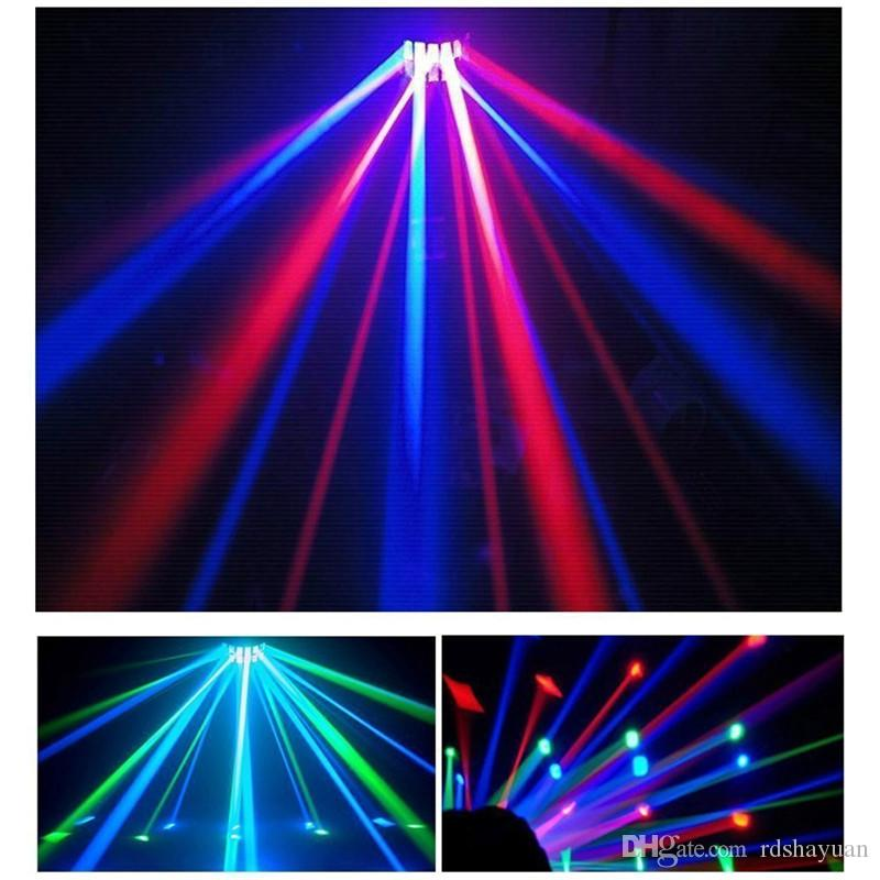 LED RGB Auto/Sound Control DMX512 Strobe Stage Effect Lighting DJ Disco Bar Party 7 Channel With Remote Light Lamp 6W AC90-240V