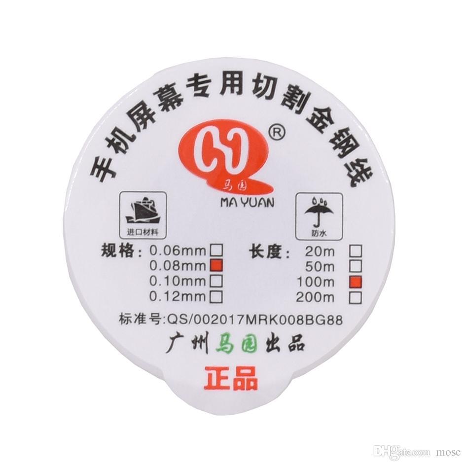 0,06 mm, 0,08 mm, 0,1 mm, legierter Stahl, Molybdändrahtschneiden, Drahtleitung, LCD-Bildschirm, Separator-Reparatur für iPhone Mobile