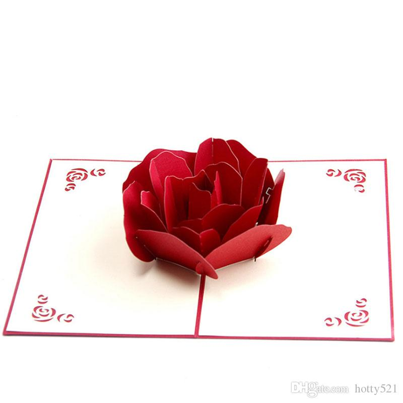 Rose 3d pop up greeting card valentines day gift couple cherry rose 3d pop up greeting card valentines day gift couple cherry birthday wedding invitation card happy birthday cards happy birthday greeting from hotty521 m4hsunfo