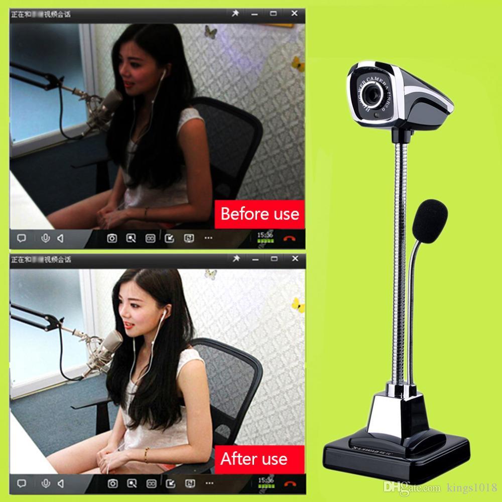 2018 neue M800 USB 2.0 Kabelgebundene Webcams PC Laptop 12 Millionen Pixel Videokamera Einstellbarer Winkel HD LED Nachtsicht mit Mikrofon