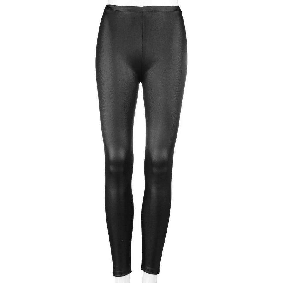 Faux Leather Thickening PU Elastic Shaping Hip Push Up Pants Black Sexy Leggings for Women pants Autumn Winter