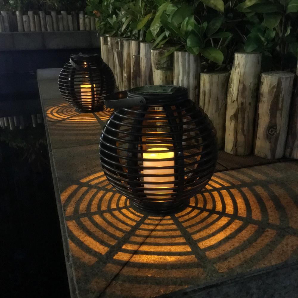 2 Packs LED Solar Light Amber LED Outdoor Wireless Solar Powered ...