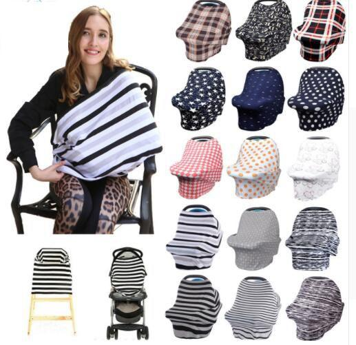 34 Design Baby Car Seat Cover Toddler Canpony Nursing Multi Use Stretehy Infinity Scarf Breastfeeding Shipping KKA5021 Office Novelty Items