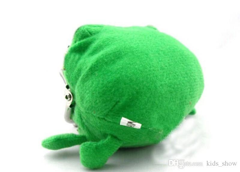 Naruto Netter grüner Frosch Münztüte Cosplay Requisiten Plüschtier Geldbörse Brieftasche Lustiges Geschenk Kleinigkeiten Geldbeutel