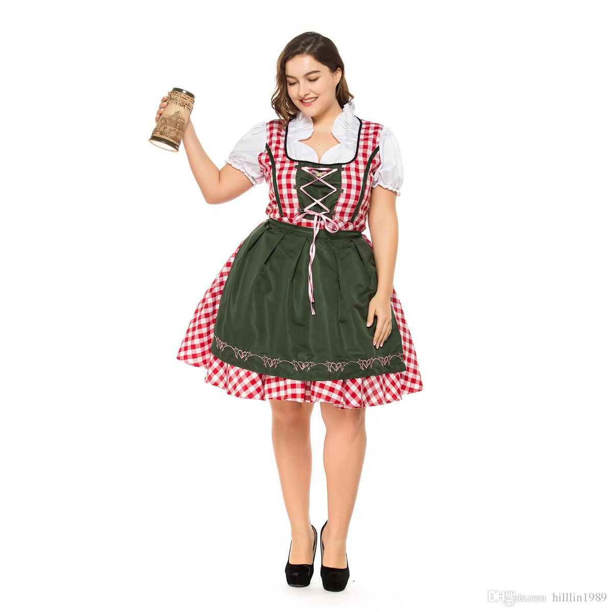 e6f26f42a4 German Oktoberfest Theme Costumes Bavarian Traditional Beer Dress Festival Plus  Size Carnival Party Dance Dress For Women Halloween Costumes For Kids Cheap  ...