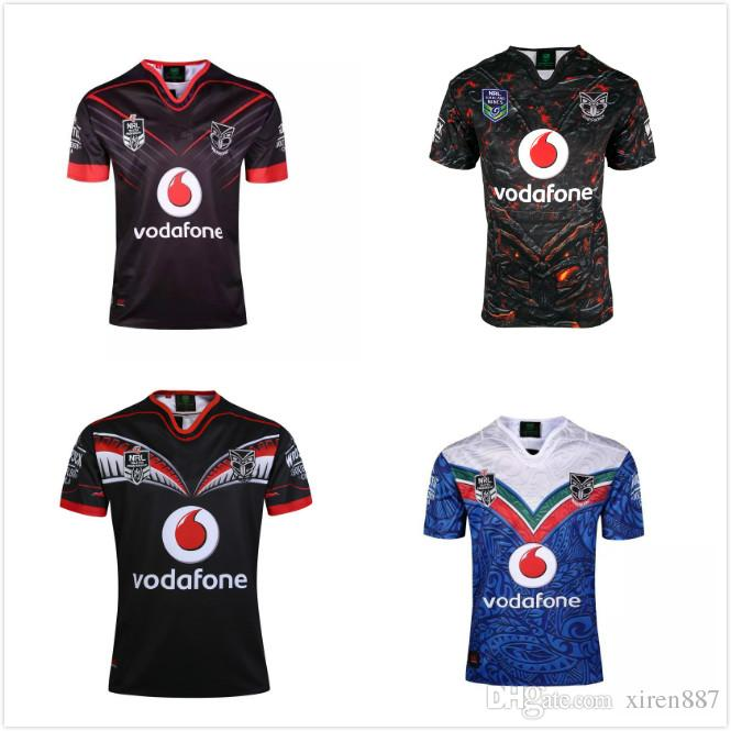 43cd6473 2018 TOP NRL New Zealand Warriors rugby jerseys home black away warriors  home jersey 2018 2019 ...