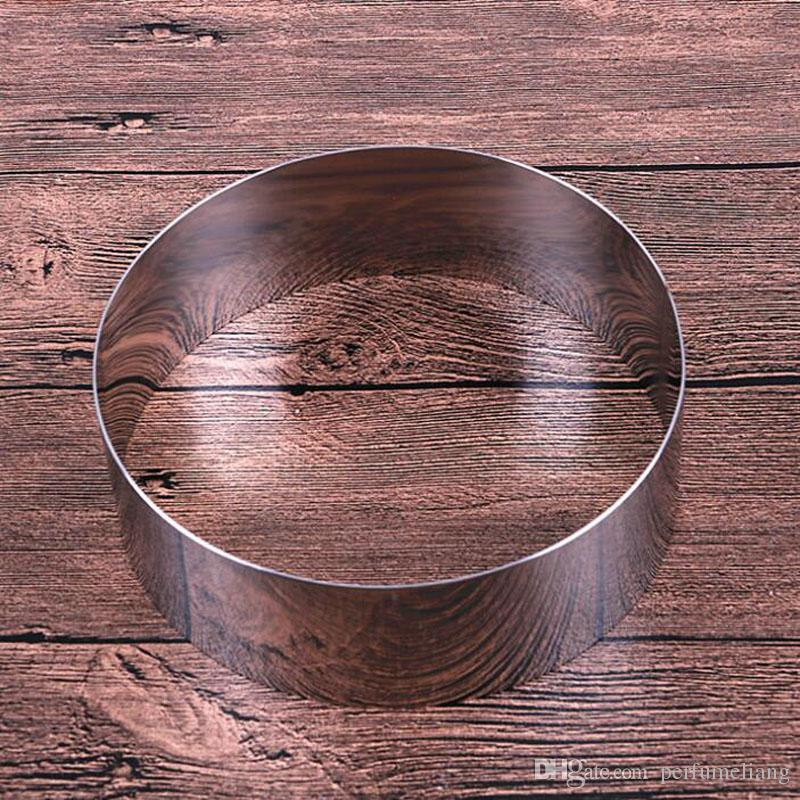 Latest 3.5 - 10 inches round shape mousse ring cake mold stainless steel cheese baking tools for cakes ZA6386