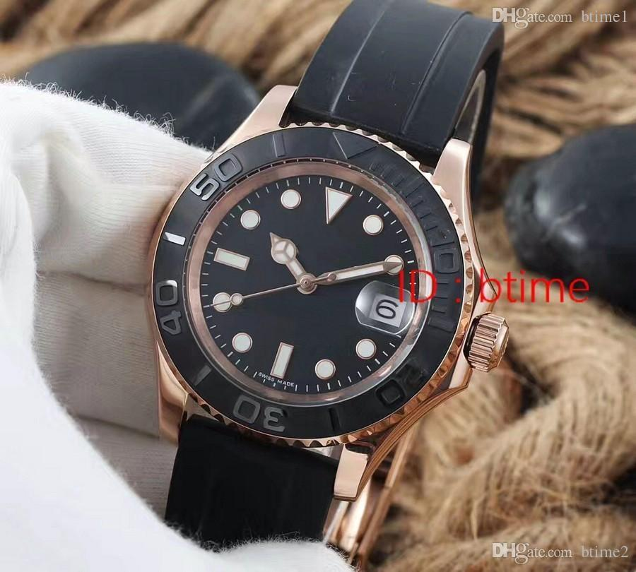 2017 New luxury brand master Ceramic Bezel Mens Mechanical Automatic Movement Watch Leather Sports Self-wind Watches Roless Wristwatches