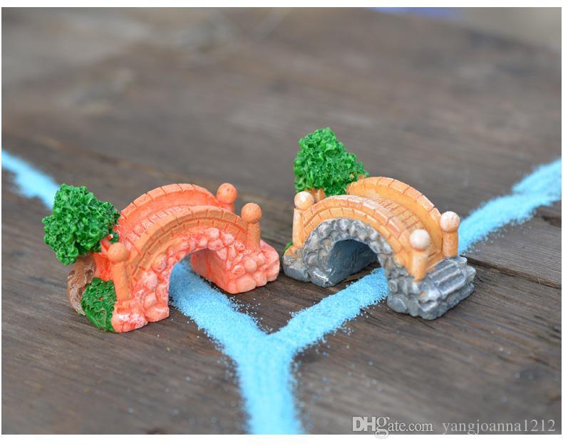 DIY Moss Terrarium Decoration Micro Landscape Accessories Handmade Resin Crafts Bridge Lawn Chair Miniature Figurines Accessories