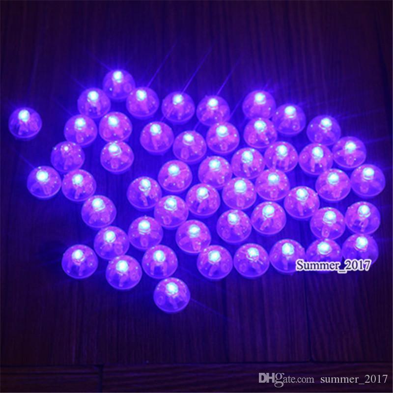 Whosale Fairy Pearls !!! Boule de flottement de la mini bougie LED 2CM à piles de lumière de scintillement de LED pour la fête de mariage