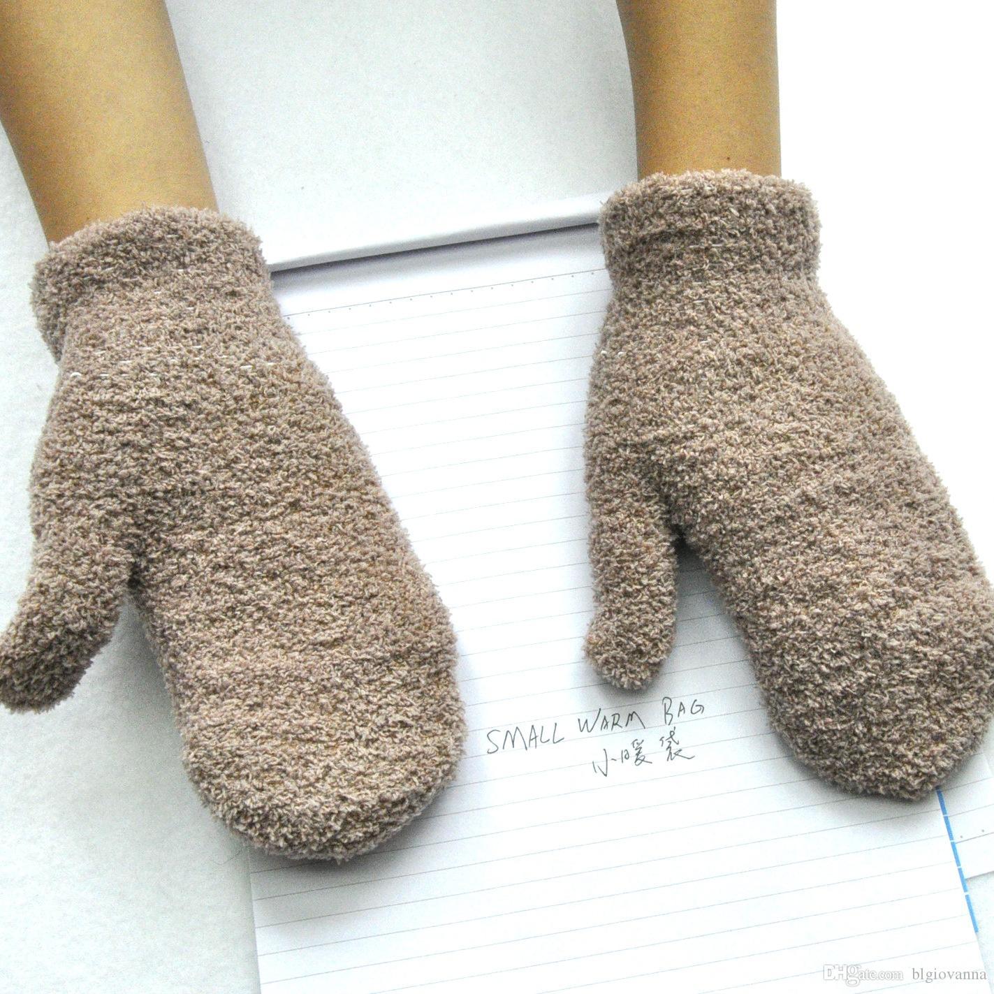 Compre Winter Boys Warm Gloves Para Niños Guantes De Piel Natural ...